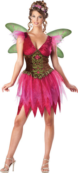 Sexy Pink Forest Fairy Costume