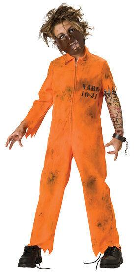 Cell Block Psycho Scary Kids Costume