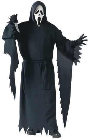 Mens Scream Ghost Plus Size Costume