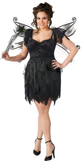 Sexy Midnight Fairy Plus Size Costume