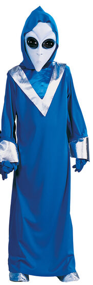 Blue Alien Scary Kids Costume