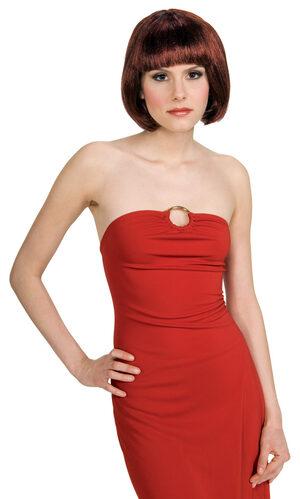Red and Black Super Model Wig