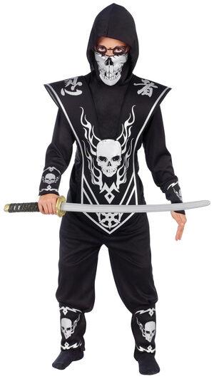 Silver Skull Ninja Kids Costume