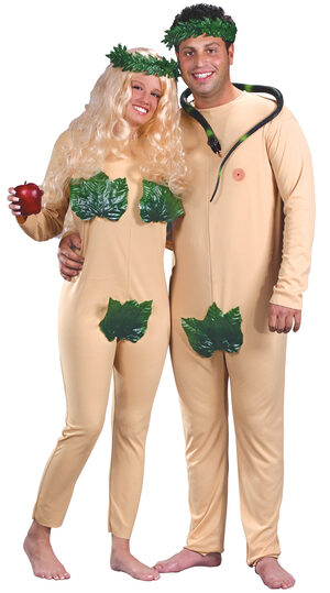 Adam and Eve Funny Adult Costume