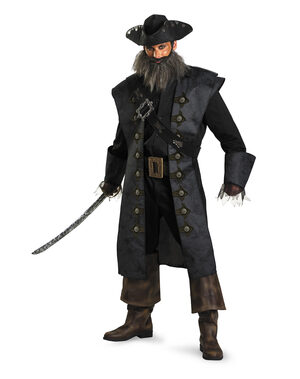 Mens Black Beard Pirate Adult Costume