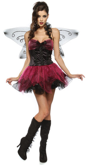 Sexy Shimmering Night Fairy Costume