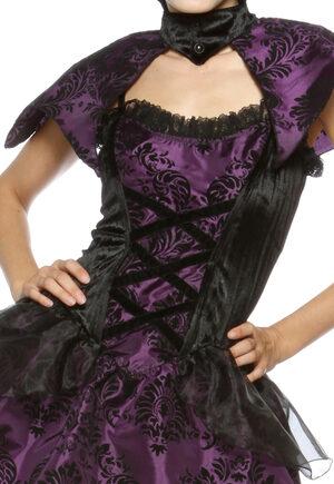 Sexy Purple Velvet Vampiress Costume