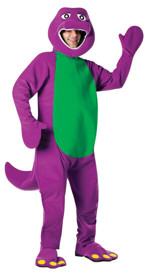 Mens Barney the Dinosaur Adult Costume