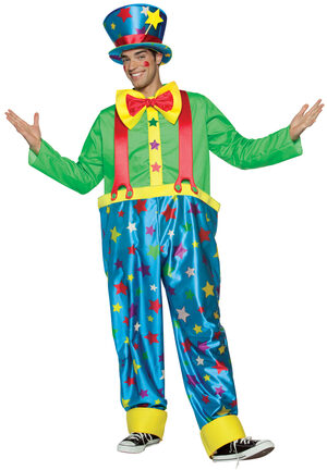 Mens Star Clown Adult Costume