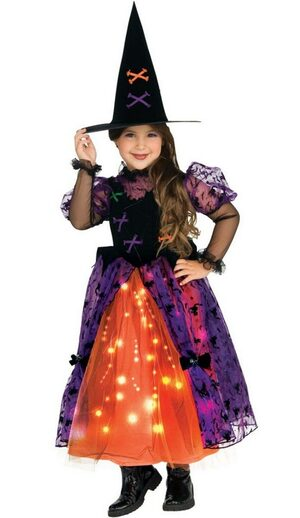 Pretty Light Up Witch Kids Costume