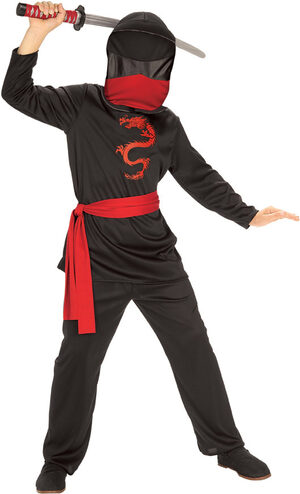 Boys Masked Ninja Kids Costume