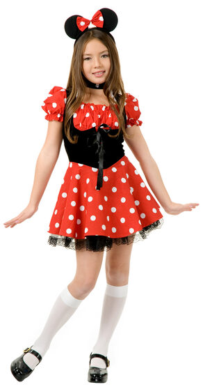 Little Miss Minnie Mouse Kids Costume