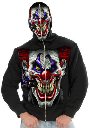 Hi Ya Roy Evil Clown Mens Hoodie