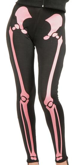 Pink Skeleton Leggings Adult Costume