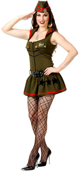 Sexy Private Parts Army Girl Costume