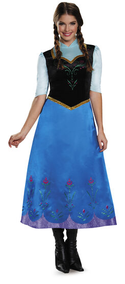 Anna Traveling Deluxe Frozen Adult Costume