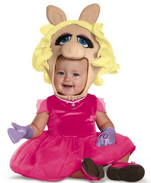 Miss Piggy Baby Costume