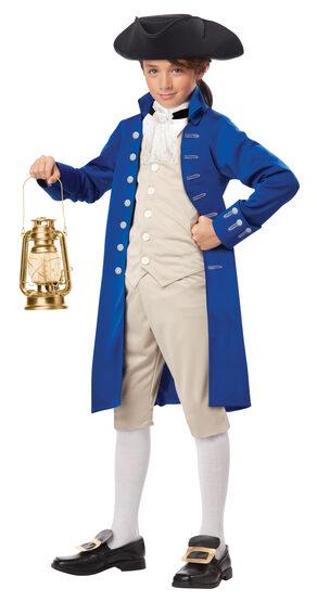 Paul Revere Kids Costume