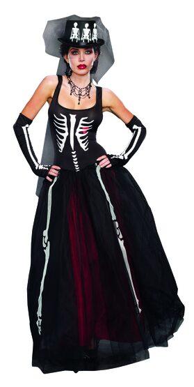 Ms. Bones Skeleton Adult Costume