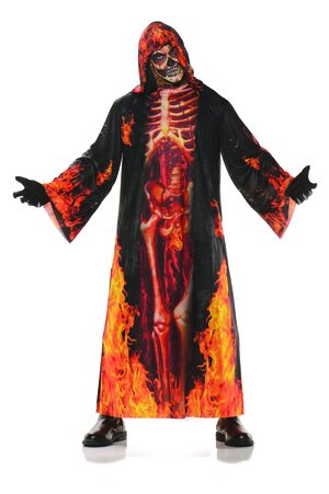 Skeleton Underworld Robe Adult Costume