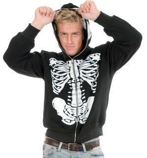 Skeleton Sweatshirt Mens Hoodie