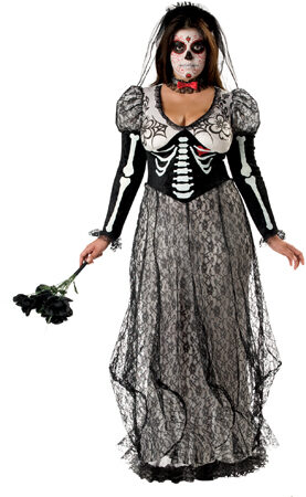 Boneyard Bride Scary Plus Size Costume