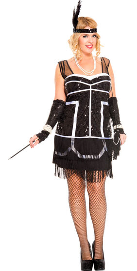 Flapper Fever Plus Size Costume
