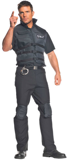 SWAT Team Captain Cop Adult Costume