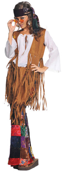 Peace Out Hippie Girl Adult Costume