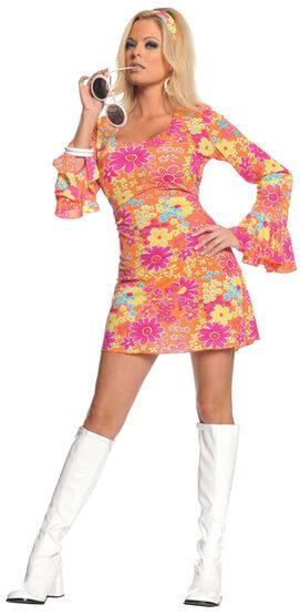 Sexy Flower Power Hippie Costume