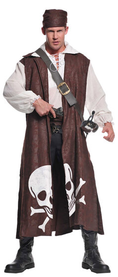 Mens Scavenger Pirate Adult Costume