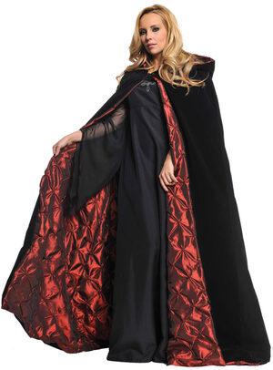 Womens Scary Velvet Cape Adult Costume