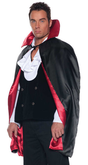 Mens Reversible Scary Cape Adult Costume
