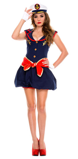 Sexy Captivating Ship Captain Costume