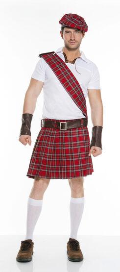 Red Scottish Kilt Adult Costume