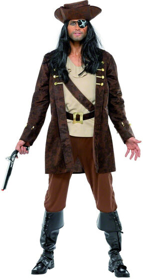 Mens Burly Buccaneer Pirate Adult Costume