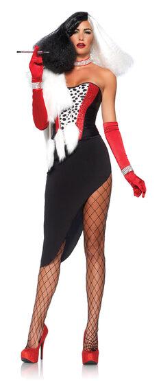 Sexy Cruella the Villain Costume
