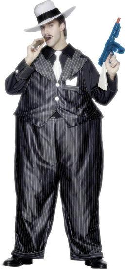 Mens Fat Cat Gangster Adult Costume