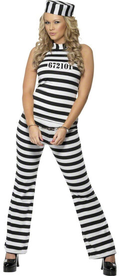 Crimes Committed Convict Adult Costume