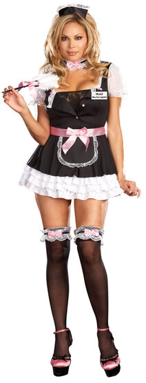 Miss Dee Lightful French Maid Sexy Plus Size Costume