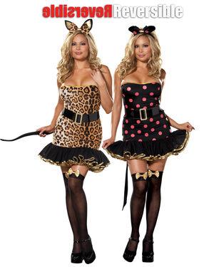 Reversible Sexy Plus Size Cat Costume