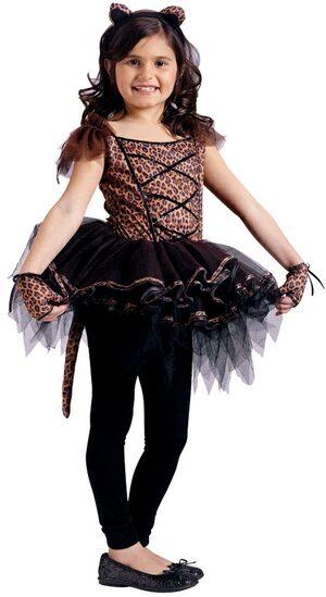 Girls Cougar Ballerina Kids Costume