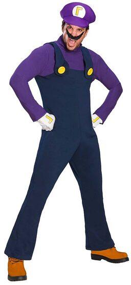 Waluigi Mario Brothers Adult Costume