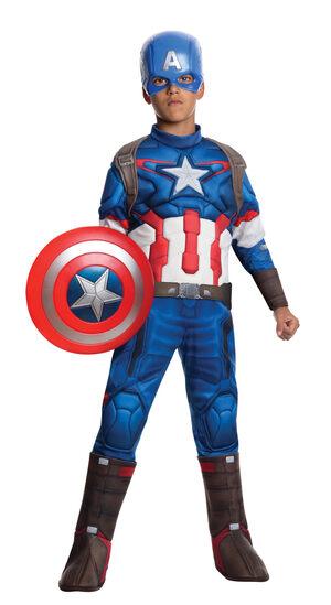 Avengers 2 Deluxe Captain America Kids Costume