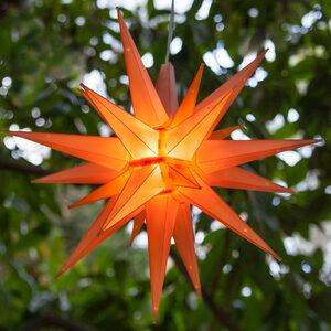 "14"" Amber LED Moravian Star Halloween Decor"