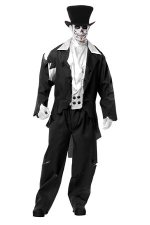 Mens Ghost Groom Day of the Dead Adult Costume