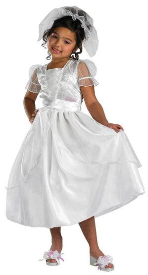 Kids Blushing Bride Barbie Costume
