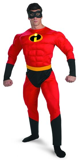 Mr Incredible Muscle Chest Deluxe Adult Disney Costume