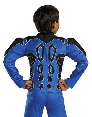 Kids Muscle Chest Blue Power Ranger Costume