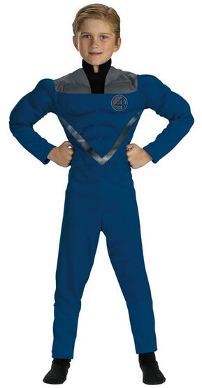Mr Fantastic Muscle Chest Kids Costume